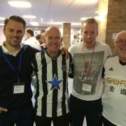 mit Glyn Evans, Chaplain Newcastle United-Christian Wienkamp, Chaplaincy Support Director North East-Eirian Wyn, Chaplain Swansea City
