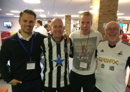 mit Glyn Evans, Chaplain Newcastle United-Christian Wienkamp, Chaplaincy Support Director North East-Eirian Wyn, Chaplain Swansea City