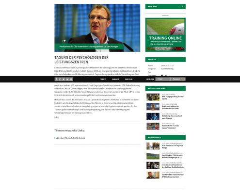 DFB-Bericht über die Tagung der Psychologen der Leistungszentren